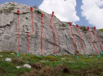 Vías de escalada en La Cueta de Babia