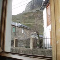 Vistas desde la ventana en zona rural